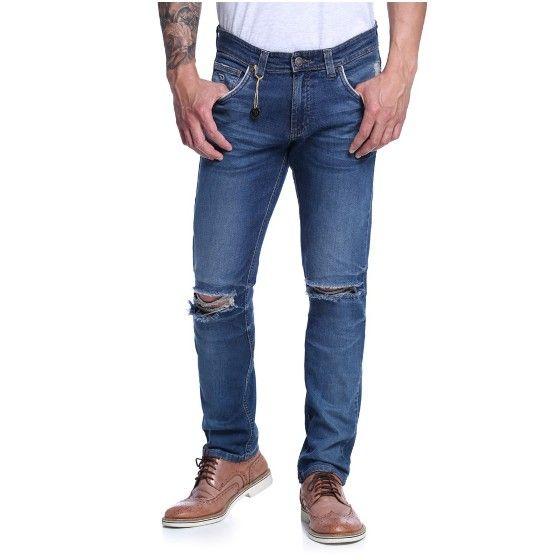 Calça Skinny Masculina Cintura Baixa - Damyller