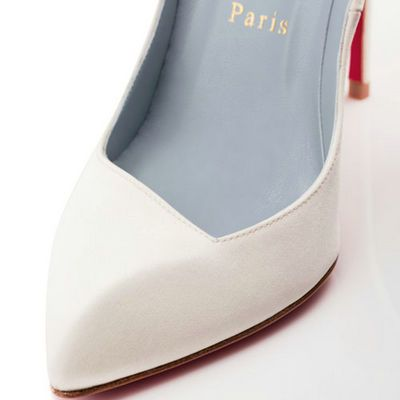 white pumps red bottoms - Google Search