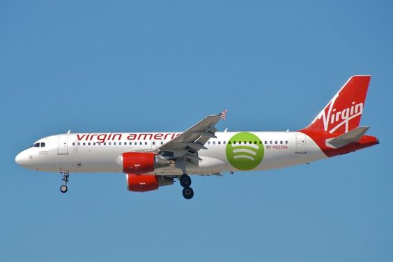 Virgin America And Spotify Team Up For Free Inflight Music Streaming