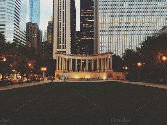Check out Millenium Park at Night by Sam Daniels on Creative Market