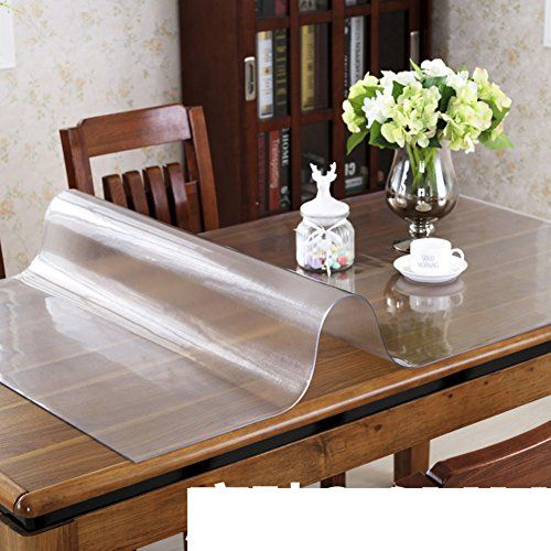 Pvc Table Cloth Waterproof Plastic Table Mat Of Soft Glass