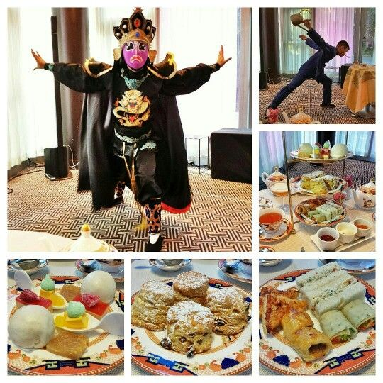 Loved the Chinese face mask changing (1pm Sat-Sun) and Kung Fu Tea (3pm Sat-Sun) performances by Kung Fu Master Huadong Che at the Chinese New Year inspired Afternoon Tea at Xi Shi Lounge at @ShangriLa_Van!   Afternoon Tea: Fried spicy shrimp patty w/lemon zest, paprika and sesame oil on brioche toast, Chinese style char siu sausage meatball rolls, pickled veggie in green onion crepe wrap with hoisin, and Dungeness crab salad w/jalapeño, cilantro and lime mayo sandwiches.   2nd tier: One of…