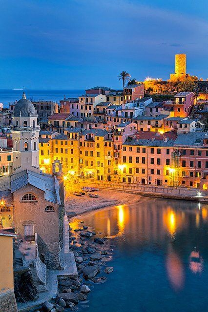 Vernazza, Cinque Terre, Liguria, Italy.  Photo by John & Tina Reid