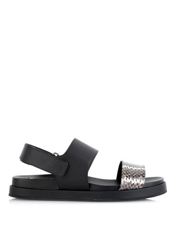 King leather and snakeskin sandals | Max Mara | MATCHESFASHION.COM US