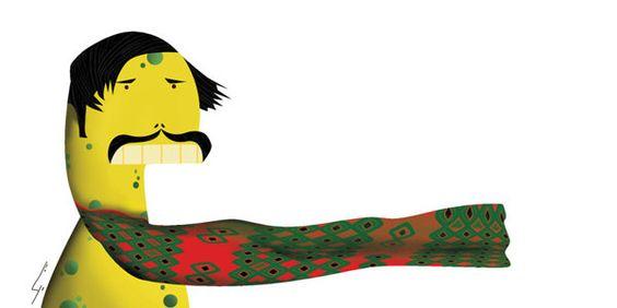 Mustache and Hayool by Tahereh Abdoli, via Behance