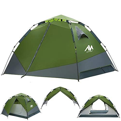 Best Price Large Camping Tents Ayamaya Easy Setup Tents With Vestibule Top Rainfly For 3 To 4 Person Double Layer 2 Doors Multi U In 2020 Dome Tent Tent Tent Camping