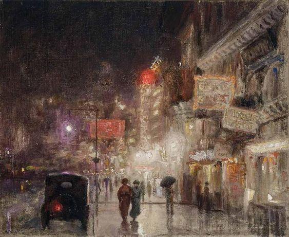 Alfredo Helsby Chilean, 1862-1936 City Nocturne