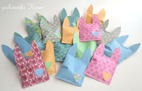♥ Zuckersüße Äpfel ♥: Candy Bunny Bag...(DIY) - kleine Osterhasen-Tüten zum Befüllen und Nähen