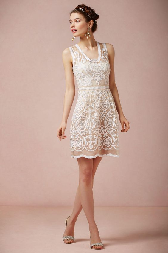 Cute dress for the rehearsal dinner | BHLDN Jola Dress $300