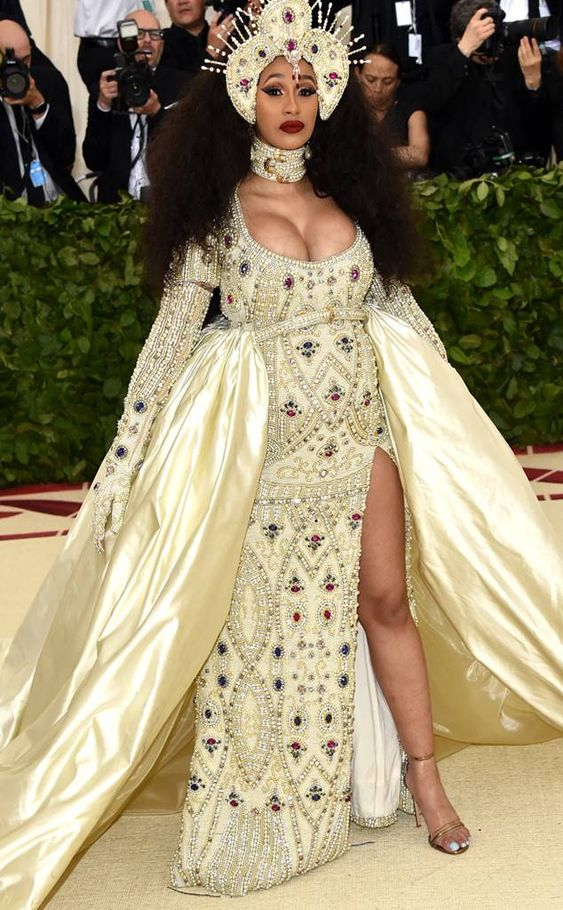 Cardi B Steals the Spotlight in Over-the-Top Moschino Ensemble at the 2018 Met Gala