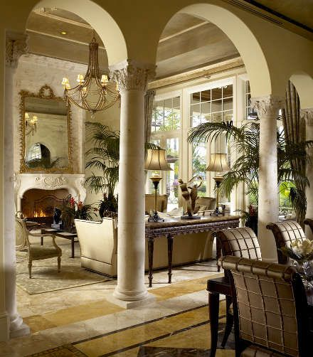 Arches Columns And Living Rooms On Pinterest
