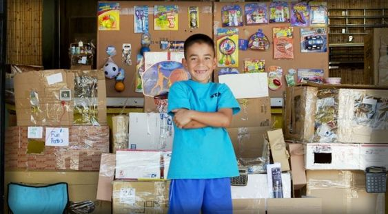 Caine's Arcade - a 9 year old boy inspires imagination with cardboard.  Thank you Nirvan Mullick for telling his story and creating the Imagination Foundation.  Chapter 2 video -> http://youtu.be/Ul9c-4dX4Hk