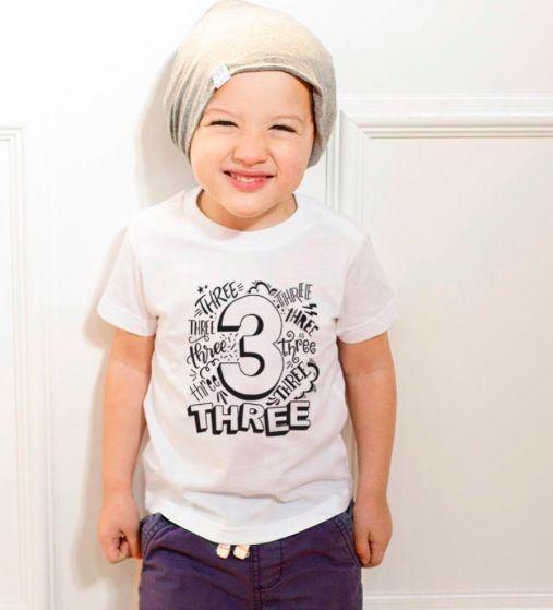 3rd Birthday Gift for Boys 3 Year Old Boy Truck Birthday Toddler Jersey T-Shirt