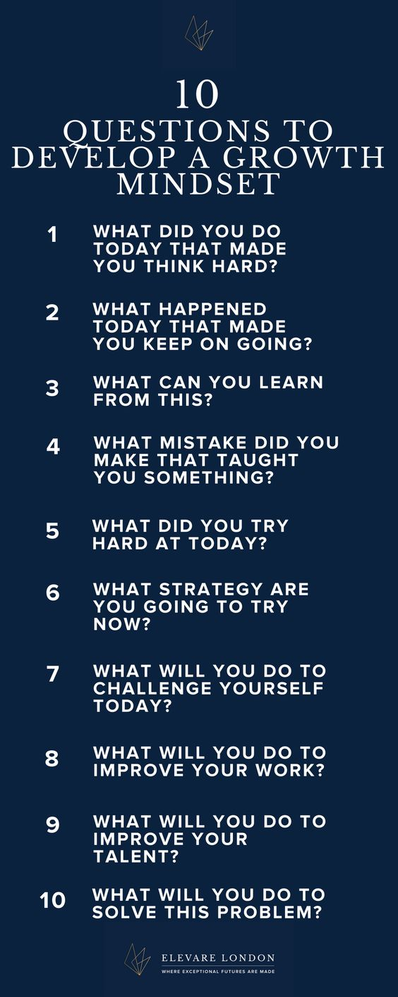 A growth mindset is an essential tool for a resilient, successful child. Teach them how to develop one wit these leading questions, to be answered in a family activity, a journal, or any other way your children like to express themselves! http://amp.gs/l1KV
