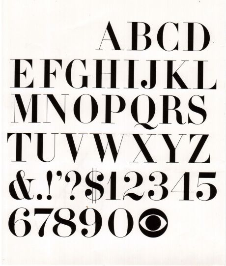 .CBS Classic style font