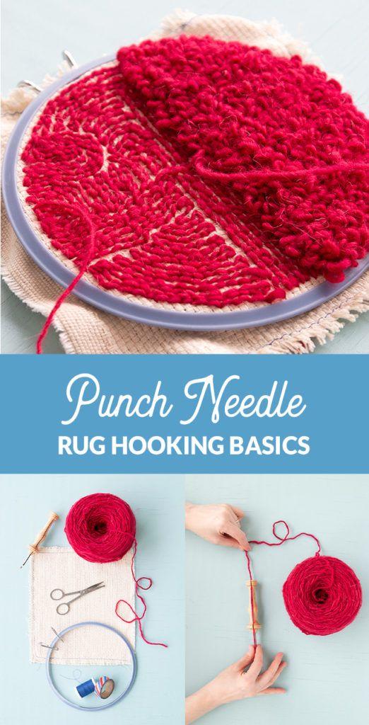 Punch Needle Rug Hooking Basics