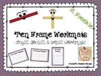 Half-Page Ten Frame Workmats {single, double, triple} FREEBIE