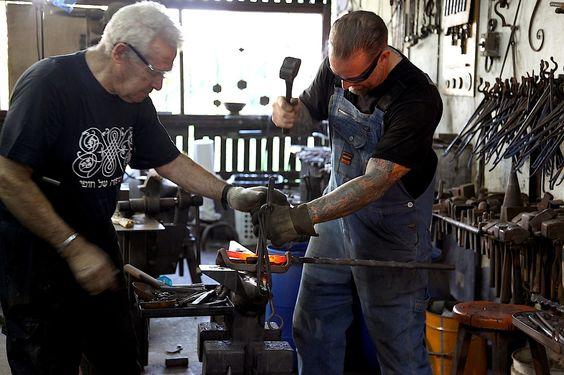 Jesse James Blacksmith, Uri Hoffi Fabricating and Blacksmithing ...
