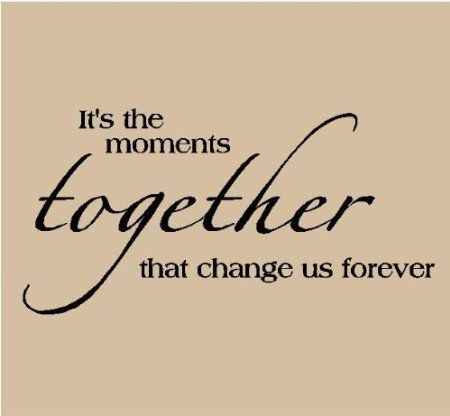 Amazon.com: It's the moments together that change us forever 12.5x24 Vinyl Lettering Wall Sayings Wall Decals Vinyl Wall Art Wall Words: Home  Kitchen