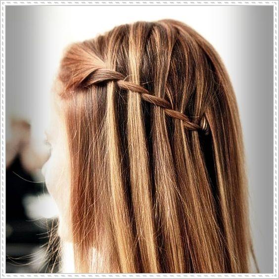 2015 Easy Waterfall Braid Hair Tutorial (amateur)