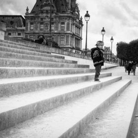 Paris - Boy on stairs by Stefan Nielson 500px