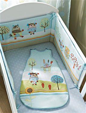 Tour de lit bébé brodé thème doudous, Chambre Bébé