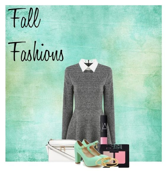 """""""Fall fashions"""" by chrystiereed ❤ liked on Polyvore featuring NARS Cosmetics, Shoes Galore and Gorjana"""