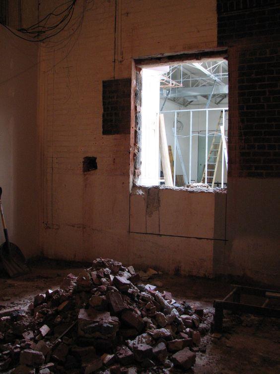 Demolition in progress at the Madison Annex!