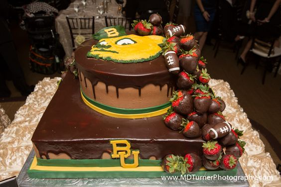 #Baylor University chocolate groom's cake - Houston wedding photography - MD Turner Photography