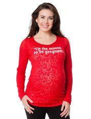 Tis The Season To Be Pregnant Maternity T Shirt