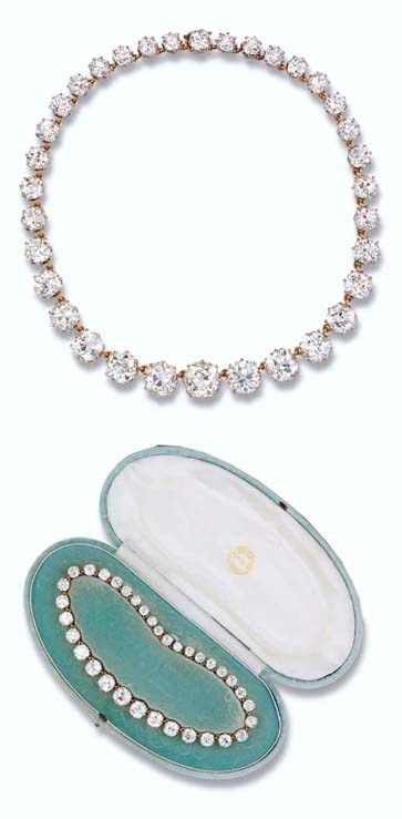 Queen Mary Diamond Riviere. This necklace was sold at Christie's in London, 2006.