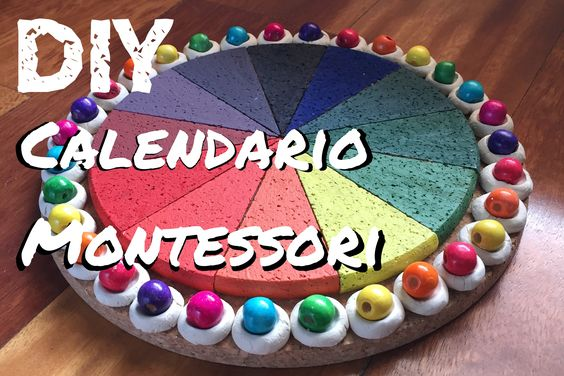 Calendario Montessori.Diy Calendario Montessori Por Aprox 20