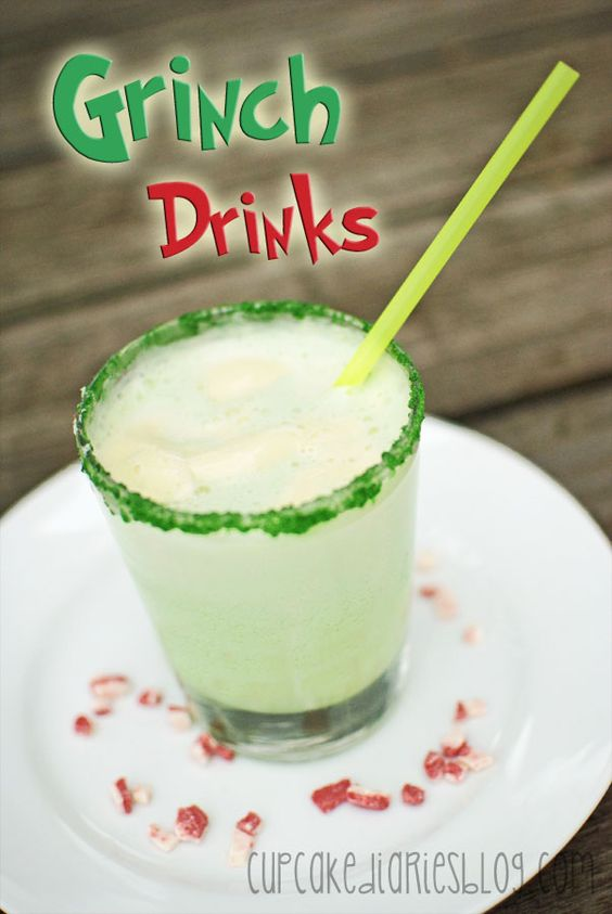 Grinch Drink With Sherbet And Vodka