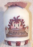 Raggedy Bless'ns Painting On Jars Instructions and Patterns From Cindy Trombley Of Painting On Jars