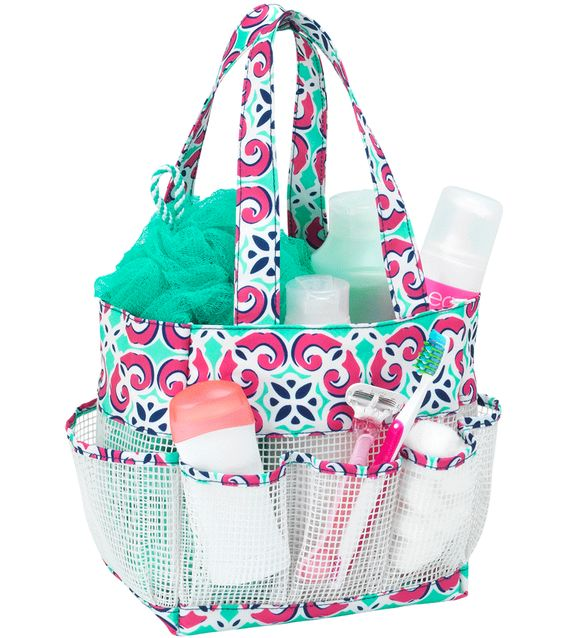 Mia Tile Monogrammed Shower Caddy