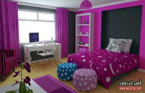 الوان حوائط غرف النوم الحديثة الوان دهانات غرف النوم بالصور قصر الديكور Girls Bedroom Modern Girls Bedroom Colors Woman Bedroom