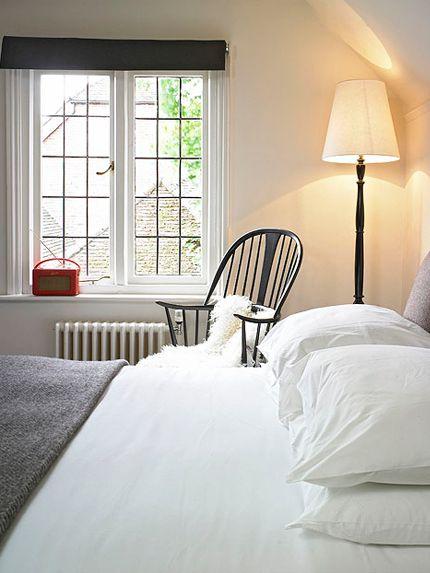 The Olde Bell Inn crisp white bed linen