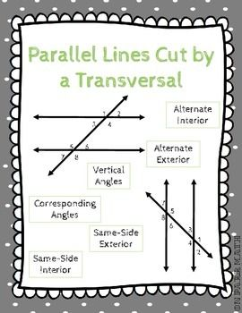 Printables Parallel Lines Cut By A Transversal Worksheet parallel lines cut by a transversal angles and worksheets worksheet missing angle measurements