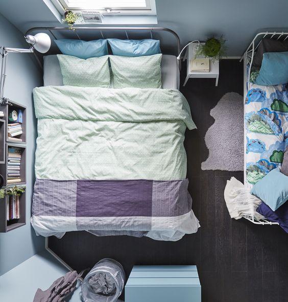 ... IKEA #IKEAnl #slaapkamer #slapen #rust #dekbed #lamp #nachtkastje