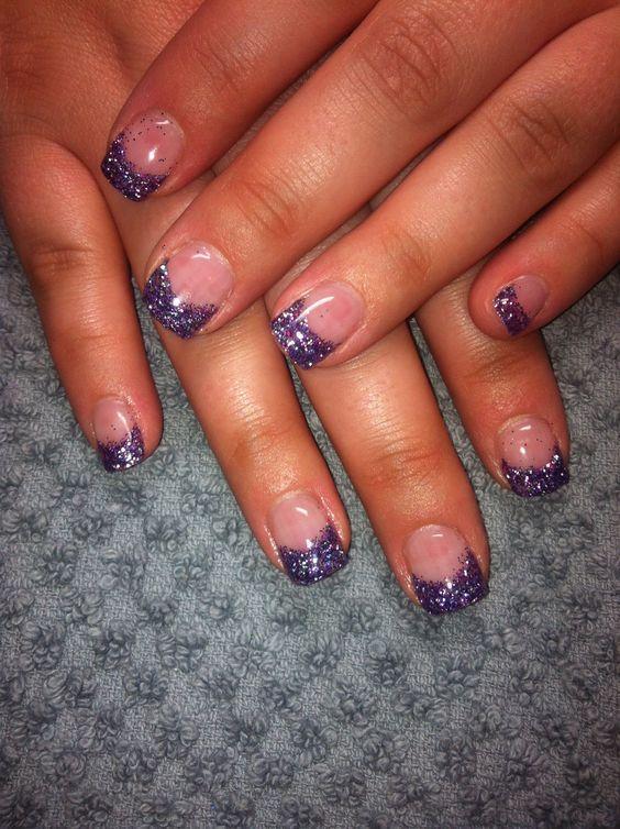 Purple sparkle tips