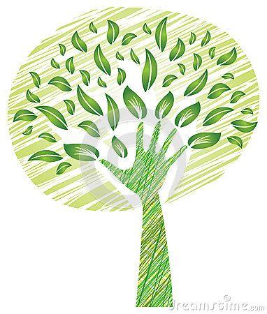 Tree with Foliage - Big Hand as Trunk by Artellia, via Dreamstime