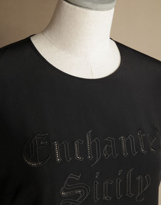 ENCHANTED SICILY EMBROIDERED T-SHIRT  - Tops - Dolce&Gabbana - Winter 2015