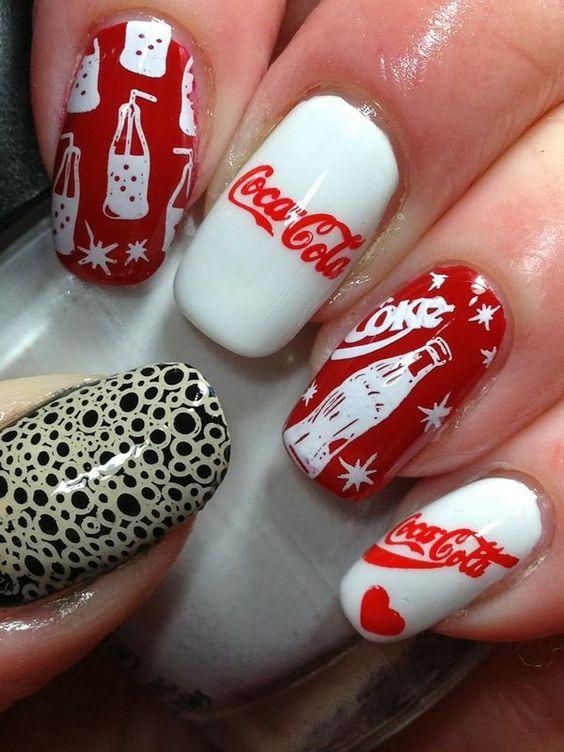 طراحی لاک ناخن با تم کوکا
