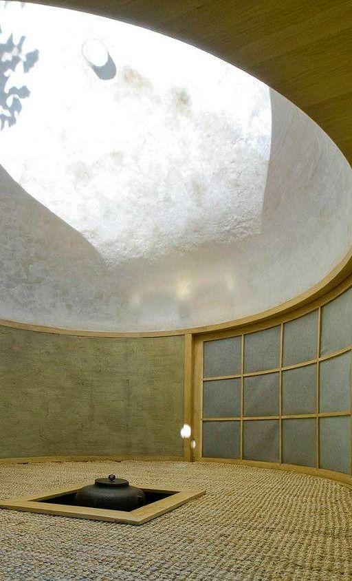 Modernes Tee Haus in in Prag, Tschechische Republik von David Maštálka of A1 Architects und Bildhauer Vojtech Bilisic. Eine weitere Ansicht des Tee Hauses.