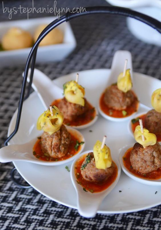 Pinterest the world s catalog of ideas for Meatball canape