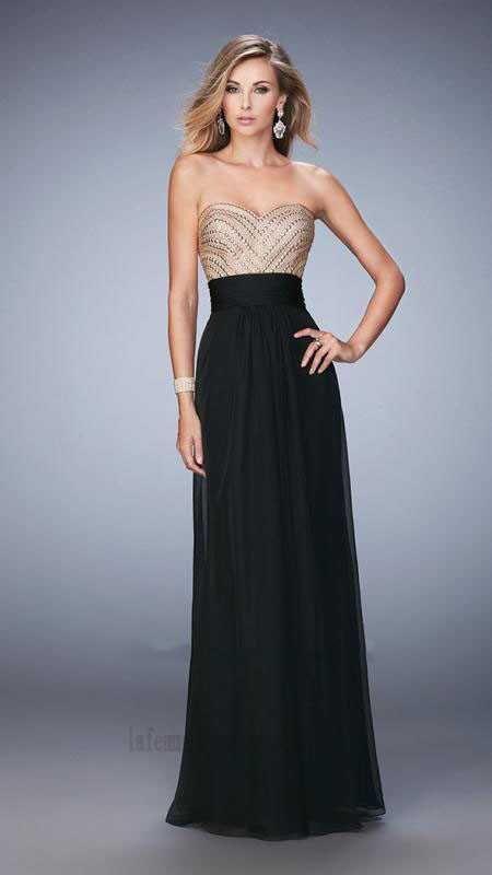 Strapless La Femme 22359 Black Long Evening Dresses Outlet  la ...