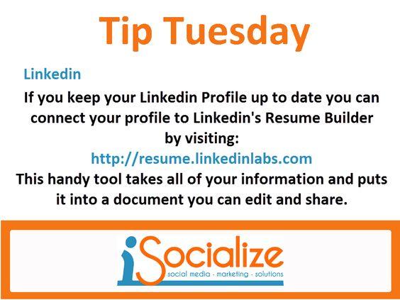 Dicas de mídia social, Currículo and Mídias sociais on Pinterest - linkedin resume builder