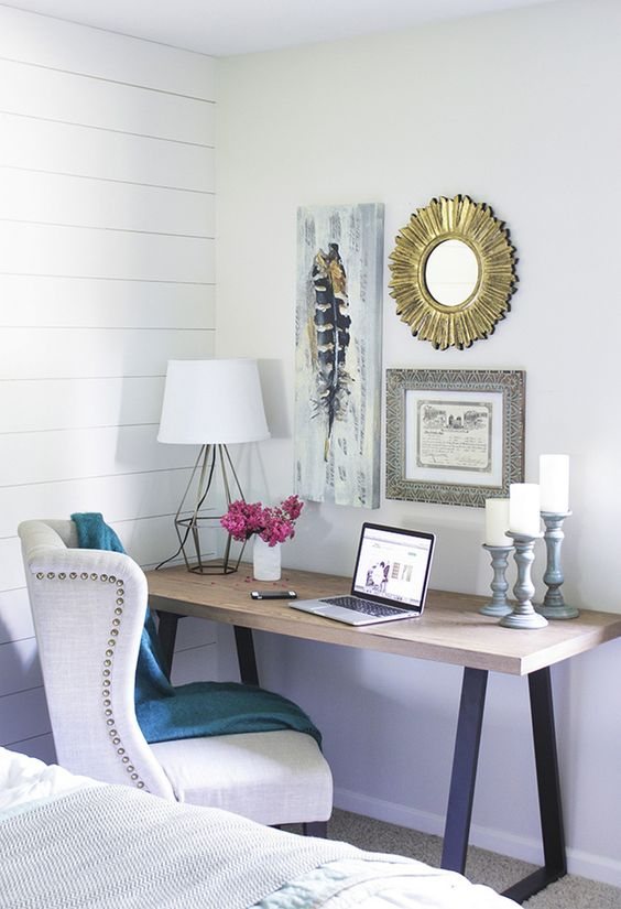 Small space for bedroom and home office (1)