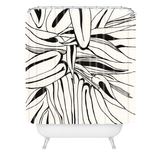 Elena Blanco 60s Shower Curtain | DENY Designs Home Accessories