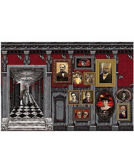 Gothic Wall Decor gothic mansion wall decor - spirithalloween   haunted house